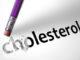 Eraser deleting the word Cholesterol